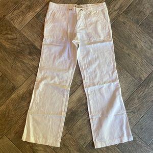 Banana Republic Martin fit white linen